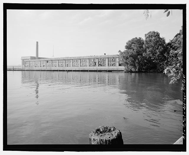 Ford Alexandria Plant FROM SHORE, DISTANT VIEW LOOKING SOUTHEAST AT NORTH SIDE