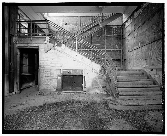 Ford Alexandria Plant INTERIOR, ADMINISTRATION BUILDING, 1st FLOOR LOBBY, LOOKING WEST AT STAIRS