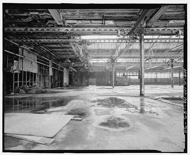 Ford Alexandria Plant INTERIOR, SERVICE BUILDING, LOOKING SOUTH FROM NORTHEAST CORNER TOWARDS PAINTING ROOM