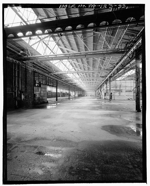 Ford Alexandria Plant  INTERIOR, SERVICE BUILDING, LOOKING WEST FROM SOUTHEAST CORNER ALONG SOUTH BAYS