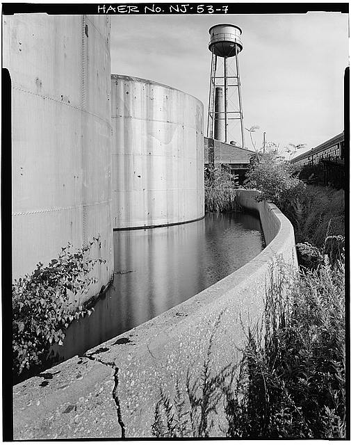 Ford Edgewater Assembly Plant TANK POND AND WATER TOWER, VIEW EAST