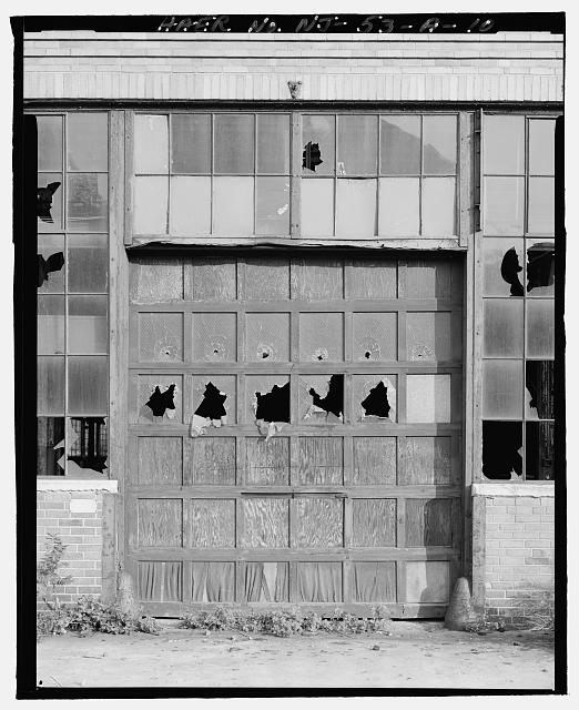 Ford Edgewater Assembly Plant REPLACEMENT DRIVE-IN DOOR, WEST FACADE, TO SOUTHEAST