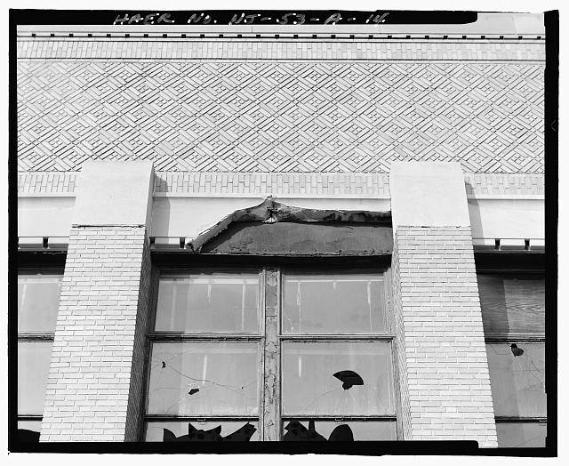 Ford Edgewater Assembly Plant DAMAGED LINTEL, ADMINISTRATIVE PAVILION FACADE, TO NORTH