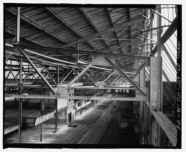 Ford Edgewater Assembly Plant CENTRAL CRANEWAY, ROOF TRUSSES, TO EAST FROM BAY 37