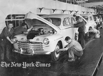 Ford Edgewater Assembly Plant First Civilian passenger cars come off the line in 1946