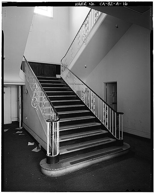 Ford Long Beach Assembly Plant STAIRCASE, LOBBY OF ADMINISTRATIVE OFFICES. VIEW TO SOUTHEAST.