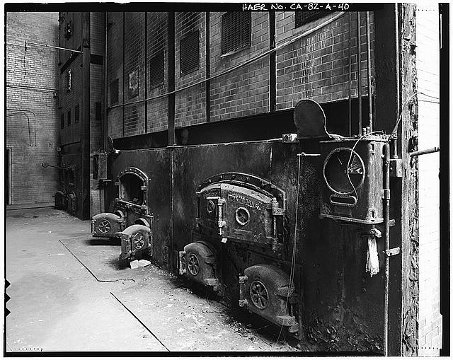 Ford Long Beach Assembly Plant BOILER FIREBOX DOORS. VIEW TO SOUTHEAST.