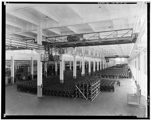 Ford Long Beach Assembly Plant Pictures Interior Warehouse