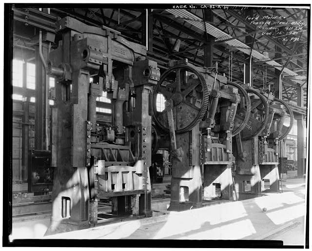 Ford Long Beach Assembly Plant PRESSED STEEL BUILDING, PRESSED STEEL MACHINERY