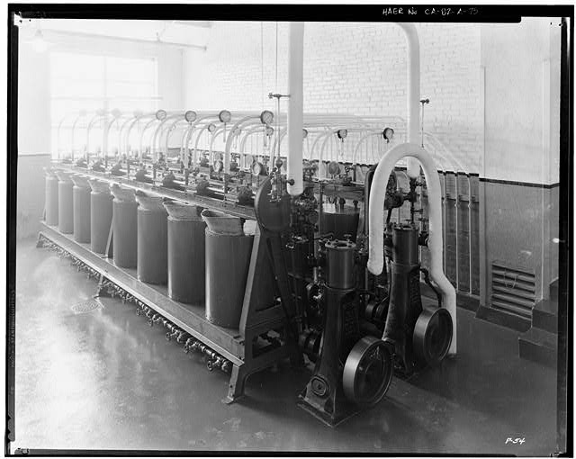 Ford Long Beach Assembly Plant Apr 13, 1930, INTERIOR-OIL HOUSE, PAINT CIRCULATING SYSTEM
