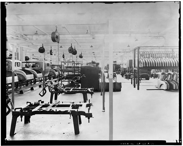 Ford Long Beach Assembly Plant Apr 13, 1930, INTERIOR-ASSEMBLY BUILDING, BODY CONSTRUCTION