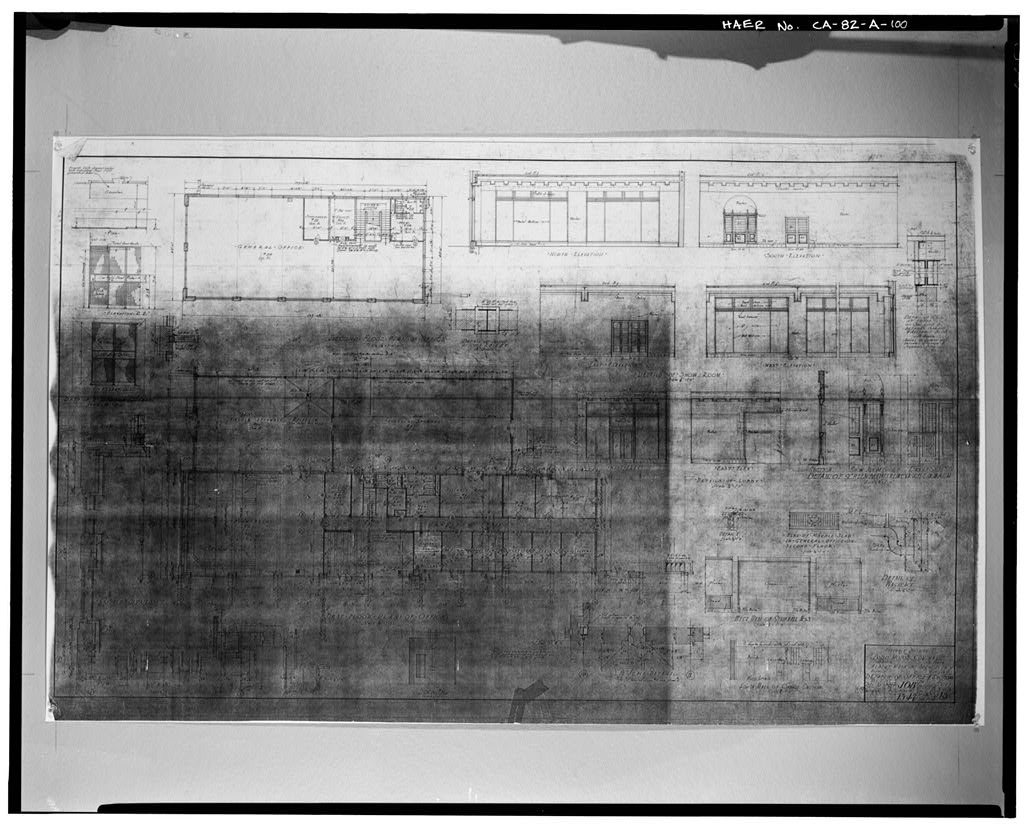 1927, ASSEMBLY BUILDING; FORD MOTOR COMPANY; DETAILS OF OFFICE AND SECTIONS