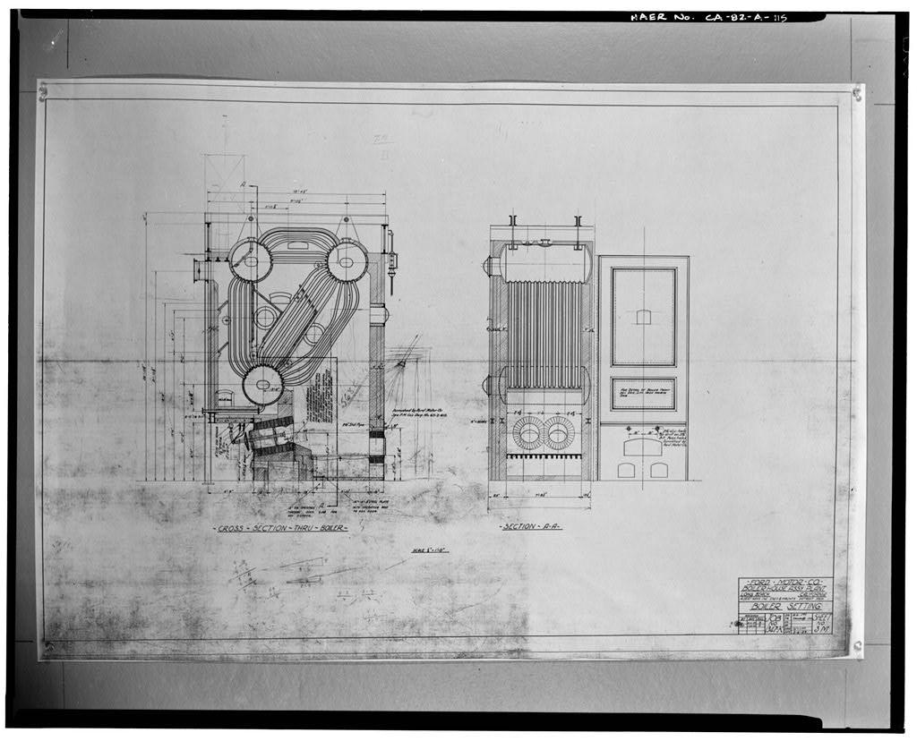 1929/1930, FORD MOTOR COMPANY; BOILER HOUSE ASSEMBLY PLANT; BOILER SETTING