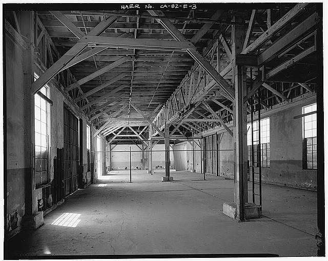 Ford Long Beach Assembly Plant SHED D INTERIOR, LOOKING SOUTH.
