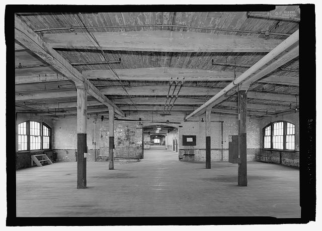 Ford Piquette Avenue Plant Second floor interior, Ford engine cutaway and mill construction.