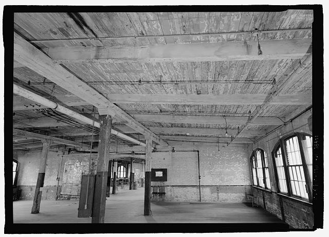 Ford Piquette Avenue Plant Ceiling detail showing wood beam construction.