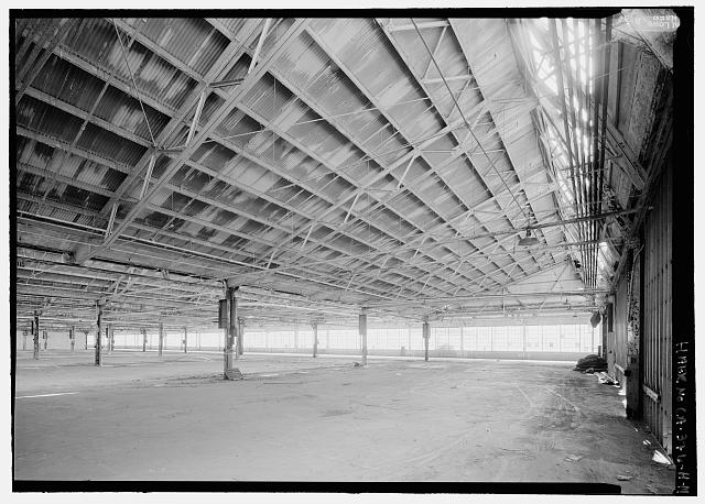 Ford Richmond Assembly Plant VIEW TO SOUTHWEST AT NORTH END OF SECOND-FLOOR ASSEMBLY AREA. VIEW SHOWS DETAILS OF SAWTOOTH ROOF STRUCTURE.