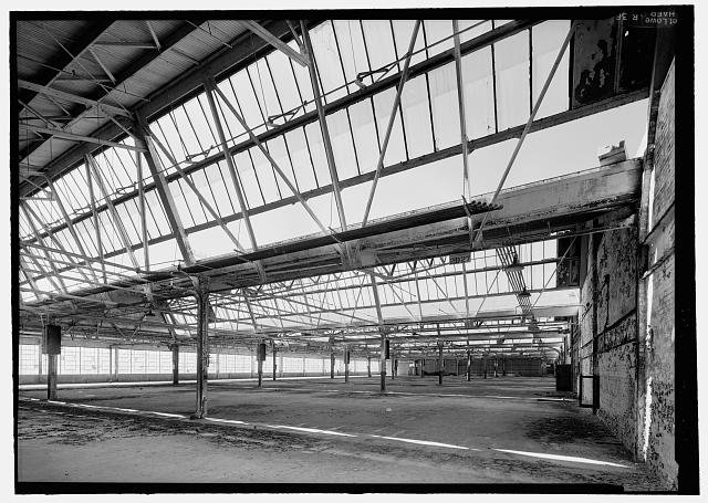Ford Richmond Assembly Plant VIEW TO NORTHWEST OF SECOND-FLOOR ASSEMBLY AREA FROM NEAR MIDDLE OF EAST WALL. VIEW SHOWS DETAIL OF NORTH-FACING SKYLIGHTS.