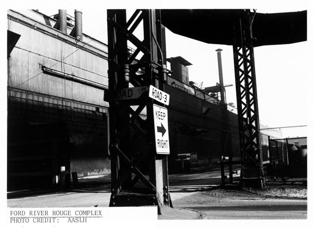 Ford River Rouge Plant View from east, showing east facade of Steel Mill