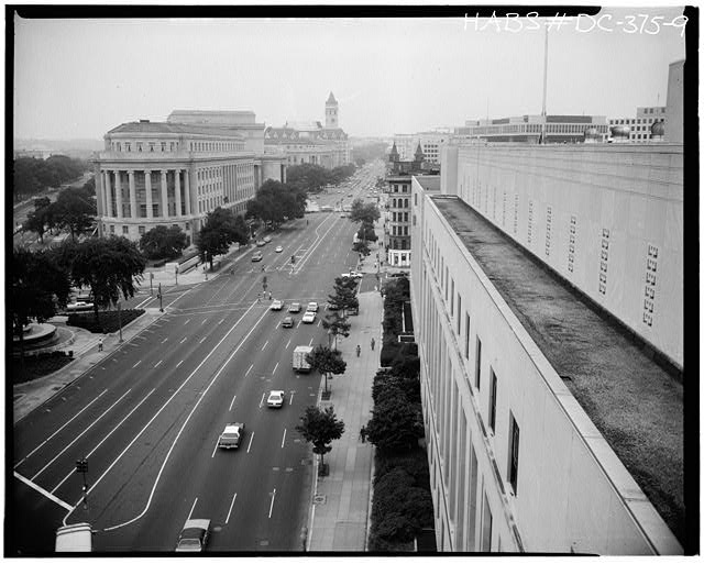 Ford Building Washington DC VIEW FROM ROOF LOOKING WEST